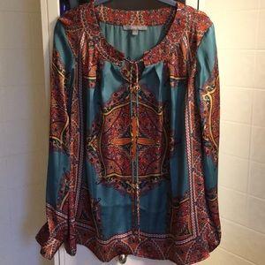 Beautiful paisley silk like blouse